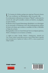 Couverture d'ouvrage: Merde à Shaekespeare